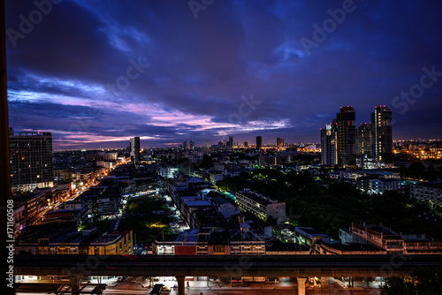 Fotobehang Bangkok Bangkok city skyline