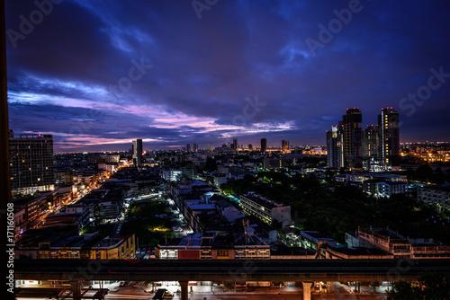 Bangkok city skyline Poster