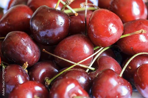 Fotobehang Kersen Rosso come le ciliegie