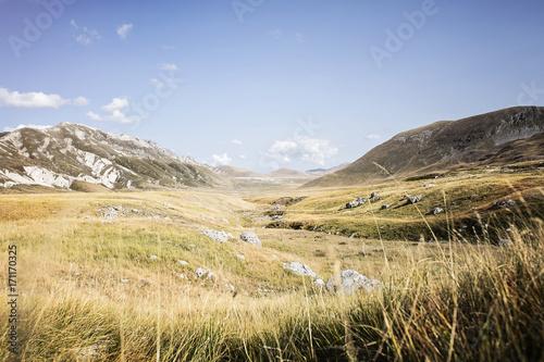 Foto op Plexiglas Beige Campo Imperatore. Abruzzo. Italia