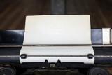 Old sheet of paper in vintage typewriter