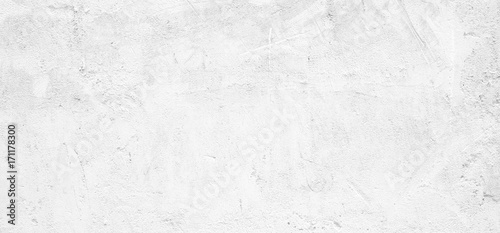 Fototapeta Blank white grunge cement wall texture background, banner, interior design background, banner