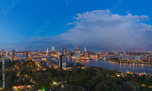 Foto op Plexiglas Rotterdam Rotterdam cityscape - Netherlands