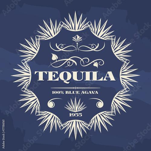 Fotobehang Vintage Poster Vintage tequila banner or poster design