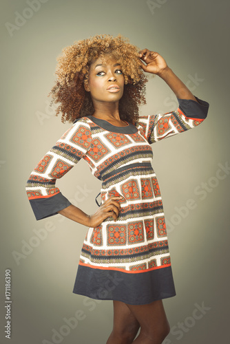 African Caribbean Woman Poster