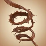 Chocolate spiral, Chocolate or brown fluid splash. - 171187593