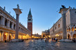 Piazza San Marco at night in Venice, Italy