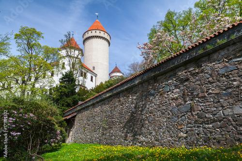 Facade of Konopiste, castle in Czech Republic Poster