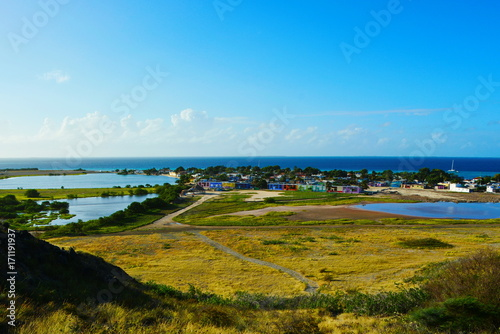 Fotobehang Pool lake, sea, sky, nature, summer, dawn, horizon, rocks