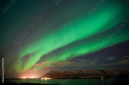 Aluminium Noorderlicht Aurora Borealis in Iceland