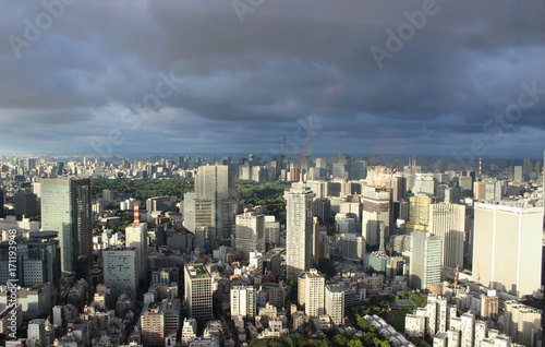 Fotobehang Tokio Tokyo panorama