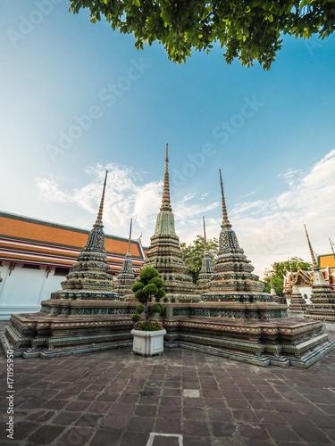 Wat Pho, temple landmark in Bangkok Thailand Poster