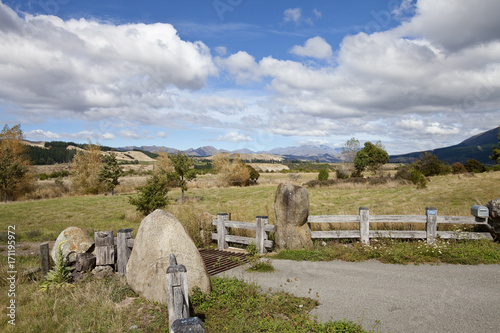Steppenlandschaft in Central Otago, Neuseeland Poster
