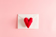 Love and Valentine's Day theme with heart cushions and envelope