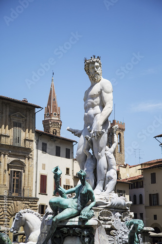 Fotobehang Florence Fountain of Neptune in Florence