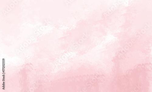 Naklejka Pink watercolor background. Digital drawing.