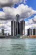 Vertical of the Detroit Skyline