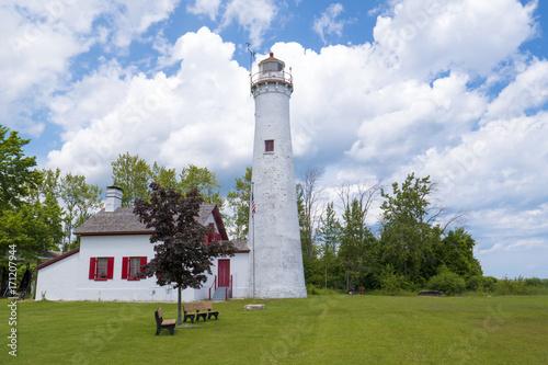 Aluminium Vuurtoren lighthouse beach