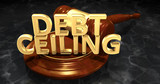 Debt Ceiling Gavel Concept 3D Illustration