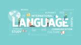 Fototapety Language illustration concept.