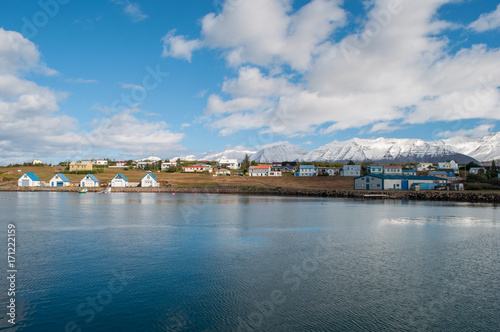 port of Hrisey in Iceland