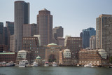 Boston skyline and cityscape from the harbor - 171223714