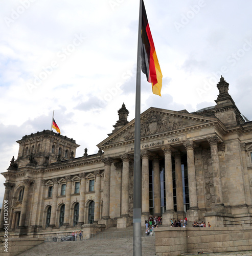 Reichstag building is Parliament of Germany in Berlin Poster