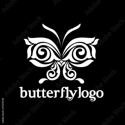 Foto op Plexiglas Vlinders in Grunge butterfly logo