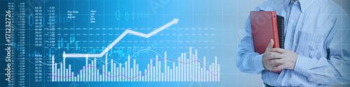 Business stock market background