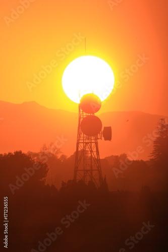 Papiers peints Orange eclat Sol antena