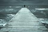Auf dem Steg am Strand Fehmarn