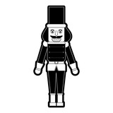 Nutcracker Toy Christmas Related Icon Image  Illustration Design  Black And  Wall Sticker