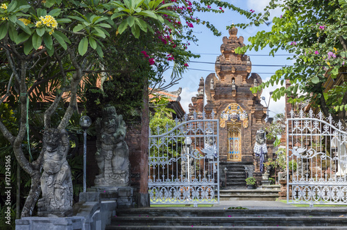 In de dag Bali Traditional Balinese Hinduism architecture on Bali, Indonesia