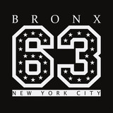 Bronx, New York. Design clothes, t-shirts. Sports graphics with number for print. Vector illustration. - 171250781