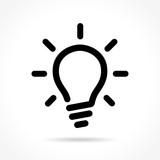 light bulb icon on white background - 171259736