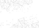 Modern geometrical triangular pattern dotted halftone background