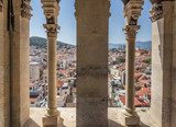 View from the inside of a high ancient tower in the city of Split. - 171282185