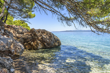 Blue Lagoon. Coast of the Adriatic Sea.