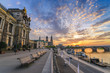Dresden sunset city skyline at Elbe River and Augustus Bridge, Dresden, Germany - 171283954