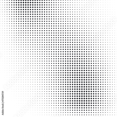 Papiers peints Pop Art Vector abstract dotted halftone template background. Pop art dotted gradient design element. Grunge halftone textured pattern with dots.
