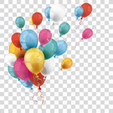Colored Transparent Balloons Bunch - 171293930