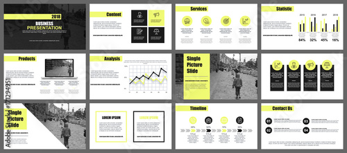 Business presentation slides templates from infographic elements business presentation slides templates from infographic elements can be used for presentation flyer and friedricerecipe Choice Image