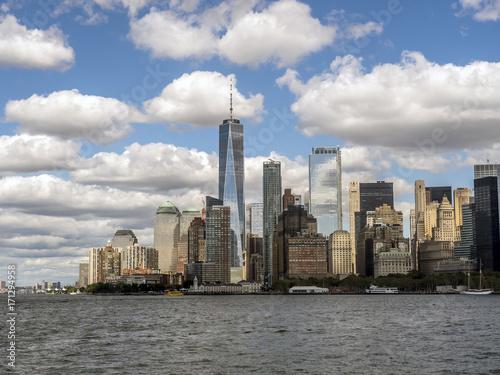 Lower Manhattan in New York City Poster