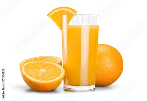 Foto op Plexiglas Sap Orange juice.