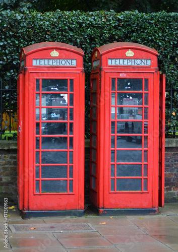 Fotobehang Pop Art telephone box, public communication system