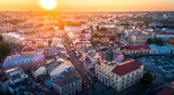Zachód słońca nad Lublinem
