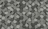 carbon fiber hexagon background - 171312996