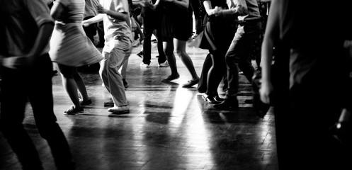Pista da ballo alla festa