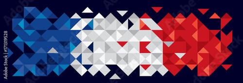 Abstract France Flag, Polygon Art (Vector Art) - 171319528