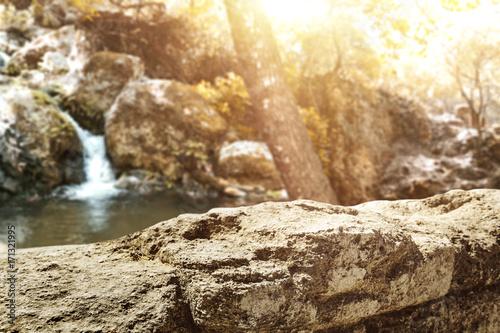 Foto op Plexiglas Beige stone space